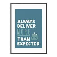 Paperflow Wandbild »Always deliver more than expected« Rahmen schwarz