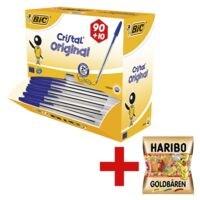 Kugelschreiber BIC Cristal Medium, dokumentenecht inkl. Fruchtgummi »Goldbären«