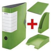 Starter-Set »LEITZ Solid« (Ordner, Notizbuch, Stehsammler und Briefkorb)