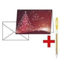 Weihnachtskarte SIGEL Christmas Swing DS 019, A6, mit Umschlag, 25 Stück inkl. Gelroller »SIGNO UM-120SP«
