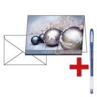 Weihnachtskarte SIGEL Exquisite DS 024, A6, mit Umschlag, 25 Stück inkl. Gelroller »SIGNO UM-120SP«