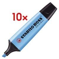 10x STABILO Textmarker BOSS® Original, nachfüllbar, Keilspitze