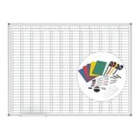 MAUL Planungstafel »Jahresplaner MAULstandard 6466584.SPR« 120/90 cm, inkl. reichhaltigem Zubehör