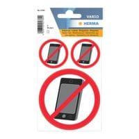 Herma 30 Hinweisetiketten »Kein Handy«