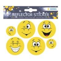 Herma 5er-Pack Reflektorsticker »Happy Face«