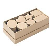folia 6er-Pack Pappschachteln à 15 Stück, naturfarben
