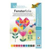 folia Fensterfolie 50 Blatt, farbig sortiert