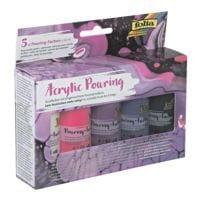 folia 4x Acrylfarben-Malset »intensiv« für Pouring-Technik