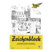 folia 10er-Pack Zeichenblock A3, je 10 Blatt