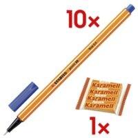 10x STABILO point 88®, 0,4mm inkl. Kaubonbons »Karamell Riesen«