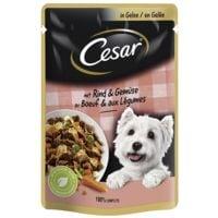 Cesar Nassfutter Feines Rind mit Gemüse in Gelee (1x 100 g)