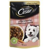 Cesar Nassfutter Feines Rind mit Karotten in Soße (1x 100 g)