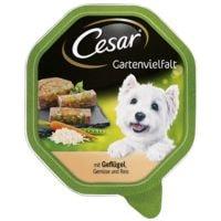 Cesar Nassfutter »Gartenvielfalt« mit Geflügel und Reis (1x 150 g)
