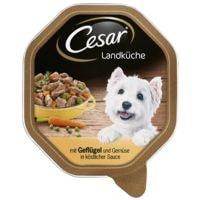 Cesar Nassfutter »Landküche«  mit Geflügel und Gemüse in Sauce (1x 150 g)