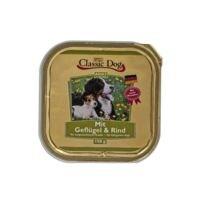 Classic Dog Nassfutter Adult mit Geflügel und Rind (1x 150 g)
