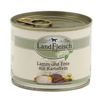 LandFleisch Nassfutter »Pur« mit Lamm, Ente, Kartoffeln und Frischgemüse (1x 195 g)
