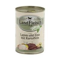 LandFleisch Nassfutter »Pur« mit Lamm, Ente, Kartoffeln und Frischgemüse (1x 400 g)