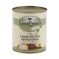 LandFleisch Nassfutter »Pur« mit Lamm, Ente, Kartoffeln und Frischgemüse (1x 800 g)