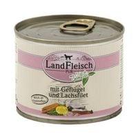 LandFleisch Nassfutter »Pur« mit Lachsfilet, Geflügel und Frischgemüse (1x 195 g)