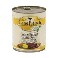LandFleisch Nassfutter »Pur« mit  Geflügel, Reis und  Frischgemüse (1x 800 g)