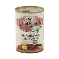 LandFleisch Nassfutter »Pur« mit Rinderherz, Nudeln und Frischgemüse (1x 400 g)