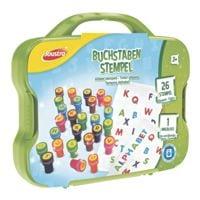 Joustra Buchstaben-Stempel 26 Stück Kunststoffkoffer