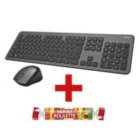 Hama Kabelloses Desktop-Set »KMW-700« anthrazit/schwarz inkl. Fruchtgummi »Roulette« 25 g