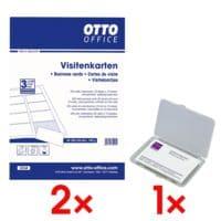 OTTO Office 2x Visitenkarten inkl. Visitenkartenetui VA140