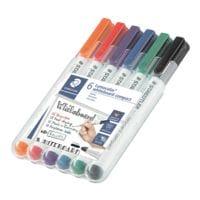 Staedtler 6er-Etui Whiteboard Marker »Lumocolor compact« 6 Farben