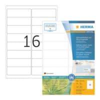 Herma 1600-Pack Etiketten aus Recyclingpapier (99,1 x 33,8 mm)