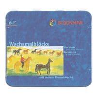10x 8er-Pack Wachsmalblöcke inkl. Schaber (in Fischform) und Metall-Etui