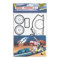 folia 5x 4er-Pack Steck-Figuren »Fahrzeuge«