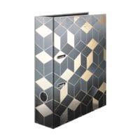 5er-Pack Motivordner A4 Herma Glanzvoll Cubes breit, Motiv