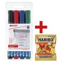 Edding 4er-Pack Flipchart Marker »383« inkl. Fruchtgummi »Goldbären«