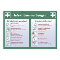 Hinweisschild / Informationstafel »Infektionen vorbeugen« 21 x 29,7 cm, 10 Stück