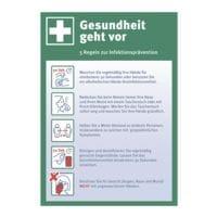 Aufkleber / Hinweisschild »Gesundheit geht vor« 21 x 29,7 cm, 10 Stück