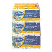 alouette Toilettenpapier Premium 4-lagig, weiß - 90 Rollen (9 Pack à 10 Rollen)