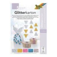 folia 5x Glitterkarton-Block »Grob«
