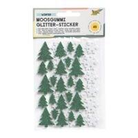 folia Moosgummi Glitter-Sticker »Winter«