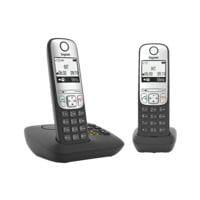Gigaset Schnurloses Telefon mit Anrufbeantworter »A690A Duo« schwarz