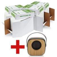 4x Recyclingpapier A4 OTTO Office Nature Recycling - 10000 Blatt gesamt inkl. Bluetooth Lautsprecher »Bambus«
