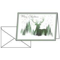 Weihnachtskarte SIGEL Christmas Forest, A6 quer, mit Umschlag, 25 Stück
