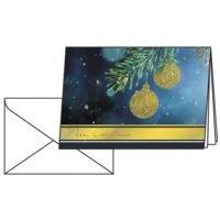 Weihnachtskarte SIGEL Golden Glitter, A6 quer, mit Umschlag, 10 Stück