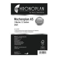 Chronoplan Wochenplan 2021 A5 - in Zeilen