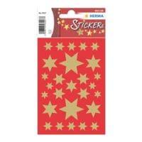 Herma Sticker »Sterne 6-zackig«  5 Größen gold