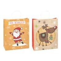 TSI Geschenktaschen »Weihnachten« groß, 6er Pack