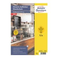 Avery Zweckform 12er-Set  Hinweis-Aufkleber Ø20 cm »Mundschutz« 49404
