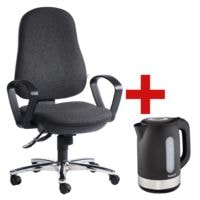 Bürostuhl OTTO Office mit Armlehnen inkl. Wasserkocher »KO3308 Snow«