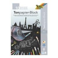 folia  5er-Pack Tonpapier-Block A3, je 10 Blatt