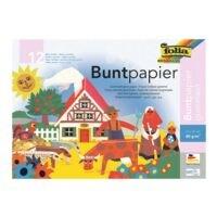 folia Buntpapier-Heft 12 Blatt